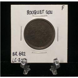 Bouquet Sou Montreal Pre-Confederation Token BR 692 LC-32B (F)