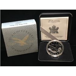 1997 Canada $1 10th Anniversary Proof Silver Coin