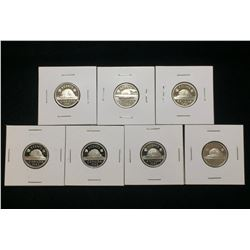 Lot of 7x Canada 5-Cents Proof Nickels