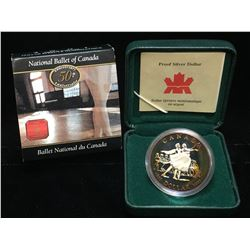 2001 Canada $1 National Ballet of Canada Proof Silver Dollar