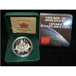 2000 Canada $1 Voyage of Discovery Proof Silver Dollar