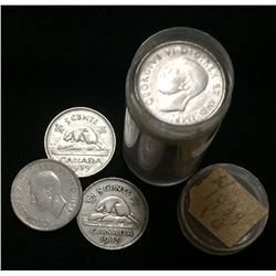 Lot of 1939 Canada 5-Cents Nickels