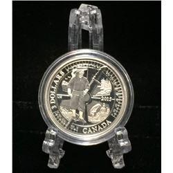 2015 Canada $3 Samuel de Champlin in Huronia Proof Silver Coin