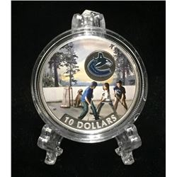 2017 Canada $10 Vancouver Canucks: Passion to Play Coloured Proof Silver Coin