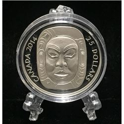 2014 Canada $25 Matriarch Moon Mask High Relief Proof Silver Coin