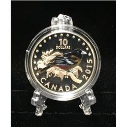 2015 Canada $10 Baltimore Oriole: Songbirds of Canada Coloured Proof Silver Coin