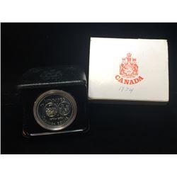 1974 Canada $1 Winnipeg Centennial Silver Case Dollar