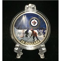 2017 Canada $10 Winnipeg Jets: Passion to Play Coloured Proof Silver Coin