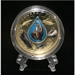 2017 Canada $20 Canadian Underwater Life Coloured Proof Silver Coin