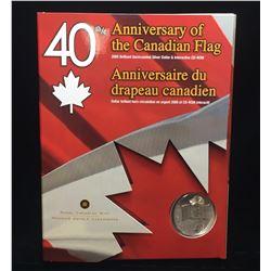 2005 Canada $1 Canadian Flag Commemorative BU Silver Dollar Set