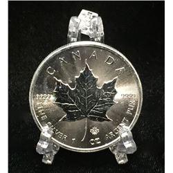 2014 1oz Canadian Silver Maple Leaf $5 Silver Coin