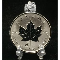 2015 1oz Year of the Sheep Privy Canadian Silver Maple Leaf Reverse Proof Silver Coin