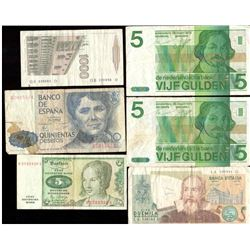 Lot of 12x World Paper Currency