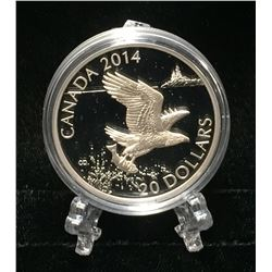 2014 Canada $20 Bald Eagle Proof Silver Coin