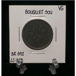 Bouquet Sou Montreal Pre-Confederation Token BR 692 LC-32B (VG)