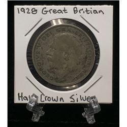 1928 Great Britain UK Half Crown Silver Coin