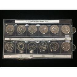 2000 Canada 25-Cents Millennium Proof-Like Uncirculated Set