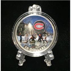 2017 Canada $10 Montreal Canadiens: Passion to Play Coloured Proof Silver Coin