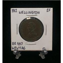 1812 Wellington Lower Canada Half Penny Token BR 987 WE-11A6 (EF)