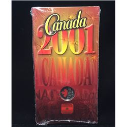 2001 Canada 25-Cents Canada Day Coloured Coin