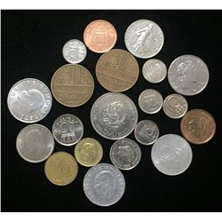 Lot of World, Foreign Coins (20 pcs)