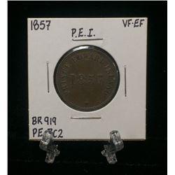 1857 Prince Edward Island Self Government And Free Trade Token BR 919 PE-7C2 (VF-EF)