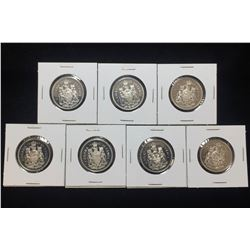 Lot of 7x Canada 50-Cents Proof Coins