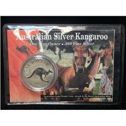 1993 1oz Australia $1 Silver Kangaroo Coin