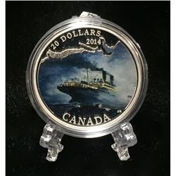2014 Canada $20 R.M.S. Empress of Ireland: Lost Ships Coloured Proof Silver Coin