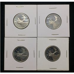 Lot of 4x Canada 25-Cents Proof Coins