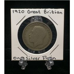 1920 UK Great Britain One Silver Florin