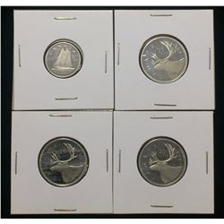 Lot of 4x Canada 25-Cents, 10-Cents Proof Coins