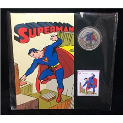 2013 Canada 25-Cents Superman Lenticular Coin & Stamp Set