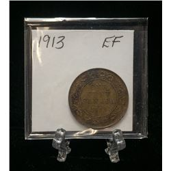1913 1-Cent Canada Large Cent (EF)