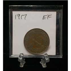 1917 1-Cent Canada Large Cent (EF)