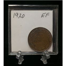 1920 1-Cent Canada Large Cent (EF)