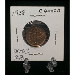 1938 Canada 1-Cent Penny Red (MS)