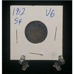 1912 Canada 5-Cents Silver Coin (VG)