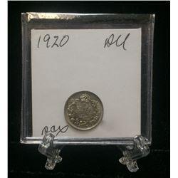 1920 Canada 5-Cents Silver Coin (AU)
