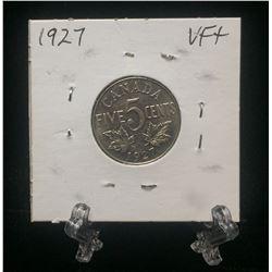 1927 Candaa 5-Cents Nickel (VF)
