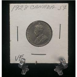 1928 Canada 5-Cents Nickel (VF)