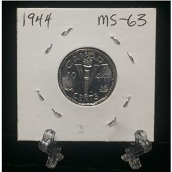 1944 Canada 5-Cents 'V' Victory Nickel (MS)