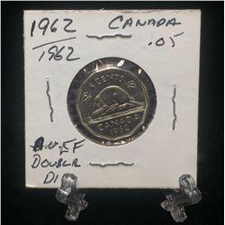 1962 Canada 5-Cents Double Die Nickel (EF)