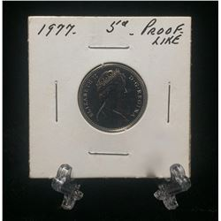 1977 Canada 5-Cents Proof-Like Nickel