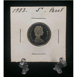 1983 Canada 5-Cents Proof Nickel
