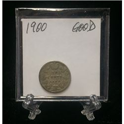 1900 Canada 10-Cents Silver Coin (G)