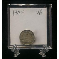 1904 Canada 10-Cents Silver Coin (VG)