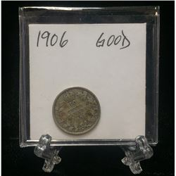 1906 Canada 10-Cents Silver Coin (G)