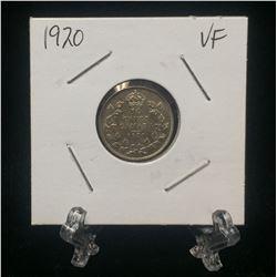 1920 Canada 10-Cents Silver Coin (VF)