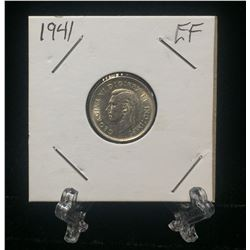 1941 Canada 10-Cents Silver Coin (EF)